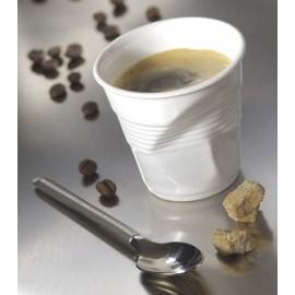 Gobelet froissé Revol blanc GM Cappuccino H 8 cm