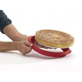 Moule à tarte en silicone démontable et son plat en céramiqueLekué Ø 30 cm
