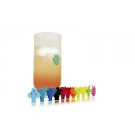 Marques verres à ventouse len silicone x 12