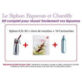 Promo Siphon ISI livre de recettes siphon et 10 cartouches