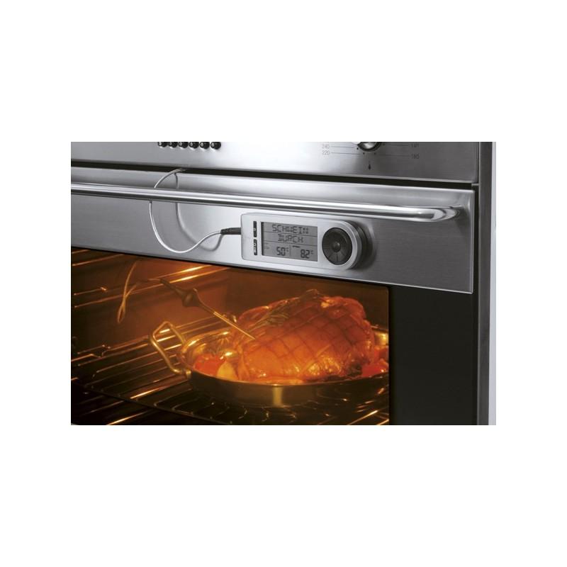 Thermom tre lectronique sonde double capteur rosle la carpe - Thermometre cuisine sonde ...