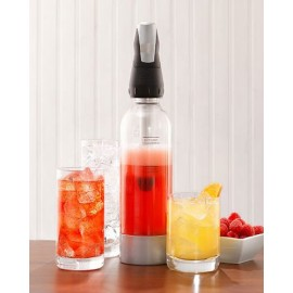 Siphon Twist'n Sparkle ISI pour gazéifier eau jus de fruit cocktail