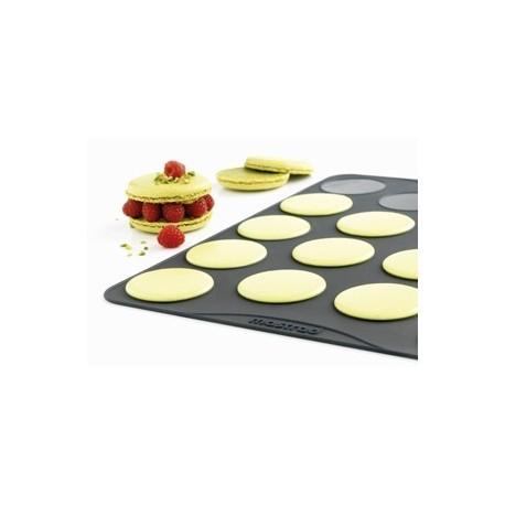 Plaque spécial macaron en silicone mastrad