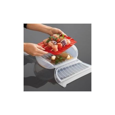 Coffret Vapeur avec grille en silicone format familial Lekué