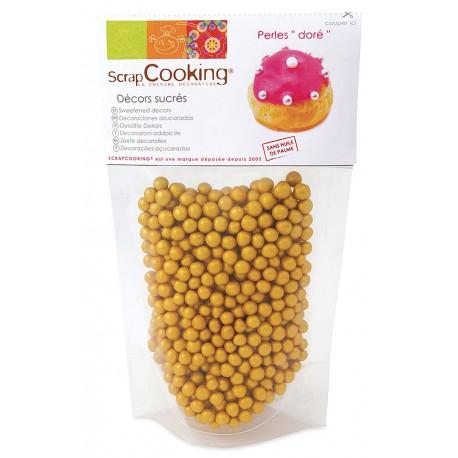 Sachet décors sucrés perles dorées ScrapCooking