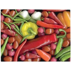 Planche à découper en verre légumes