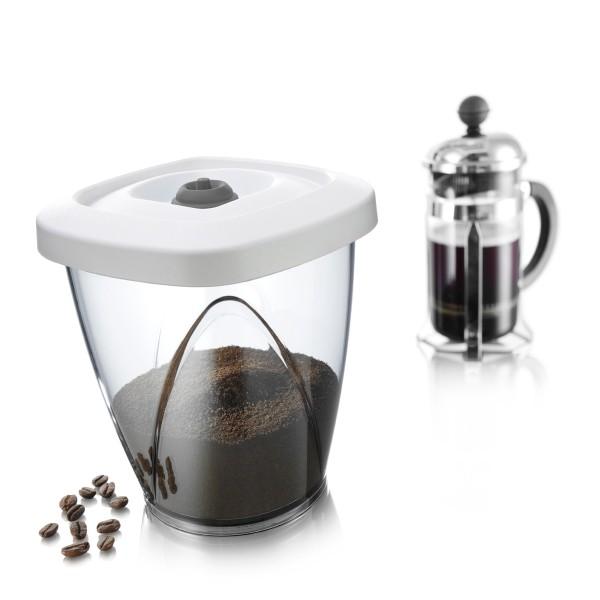 Boîte de conservation à vide d'air(1,3 L ou 500 g de café)