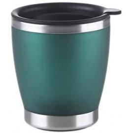 Gobelet isotherme pour café inox et vert